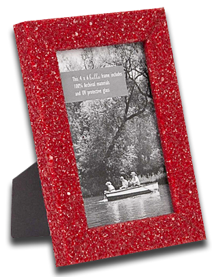 ruby glitter desk frames