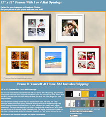 The framers outlet berkeley san francisco bay area ready made 12 x 12 social media frames with matting solutioingenieria Choice Image