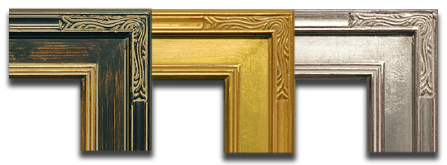 we stock these closed corner frames in three colors black with gold undertones and a gold lip and gold and silver with red undertones