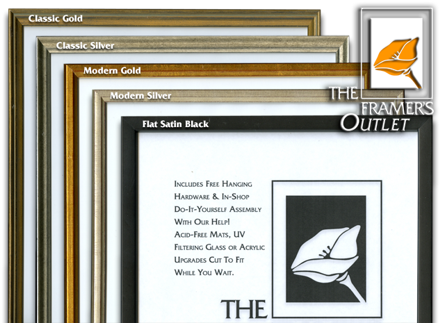Thin profile artist choice ready made frames at the framers outlet with a 12 profile our thin artists choice frames offer a slimer look than our traditional 34 artists choice frames the picture below shows the solutioingenieria Choice Image